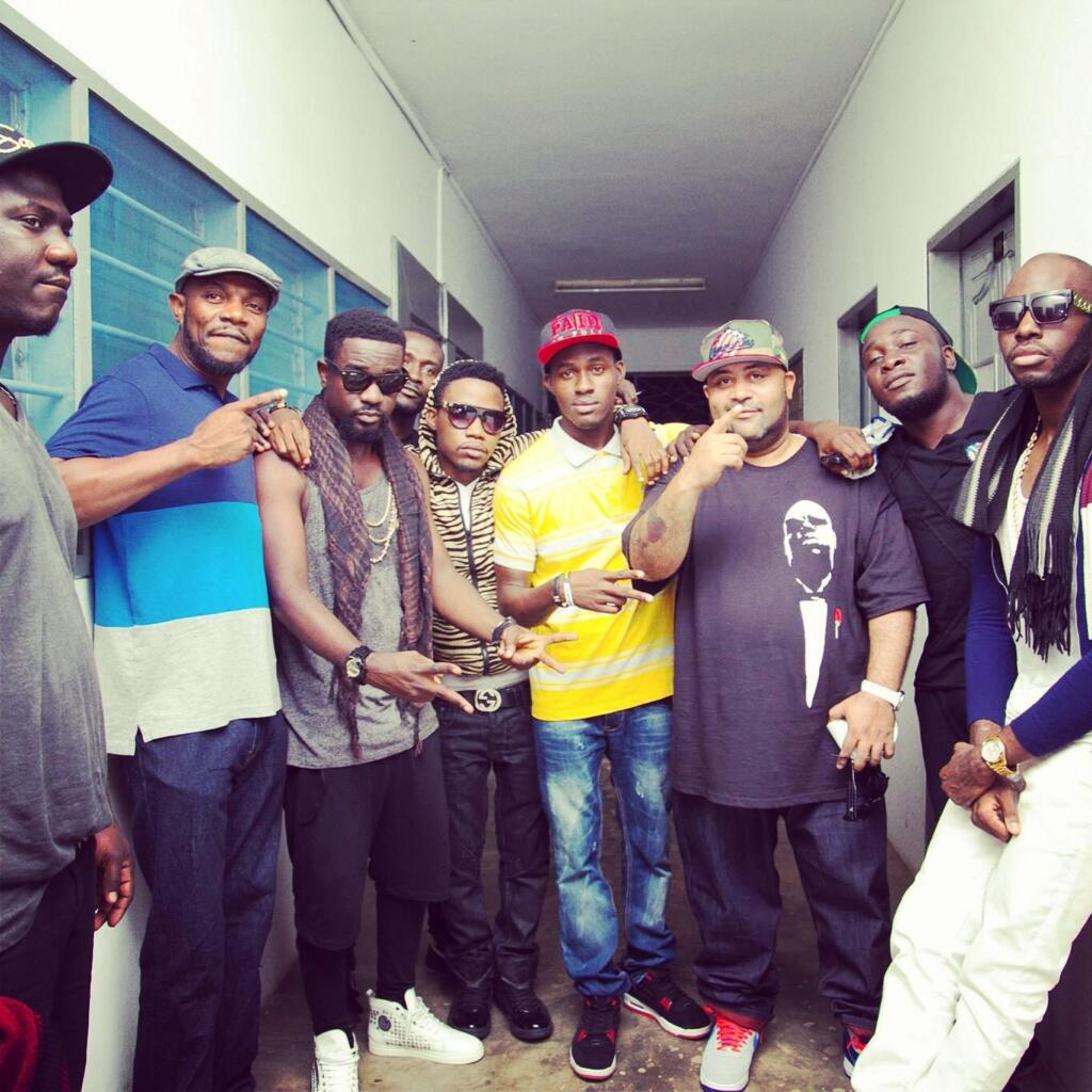 The Rising Stars of GH Concert.. From left - BTM Dude, DJ Soul Selector (New York, USA), Sarkodie, Joel Orleans, Banks, Coptic (Brooklyn, New York), Jayso & X.O Senavoe